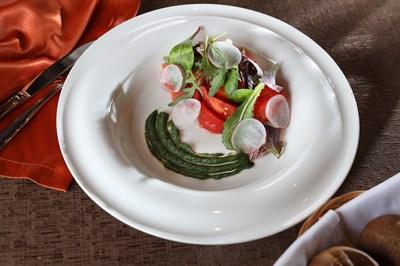 Салат из бакинских томатов с ароматным маслом